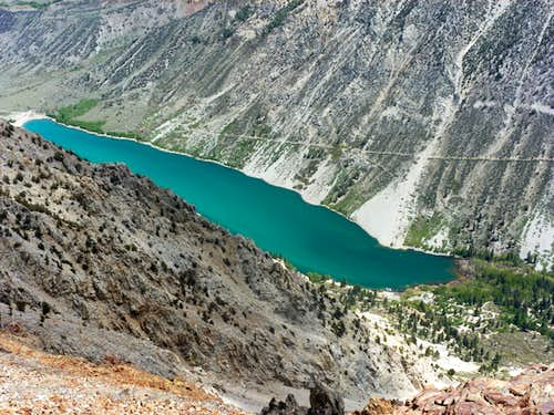 Lundy Lake from South Peak