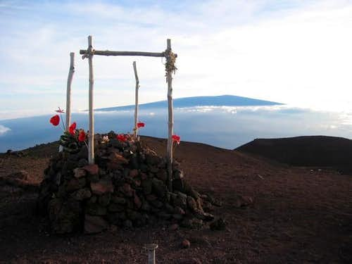 "Mauna Kea summit ""shrine""..."