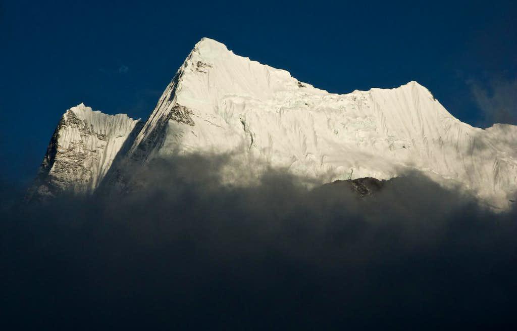 Icy Ridges Around Chhukung
