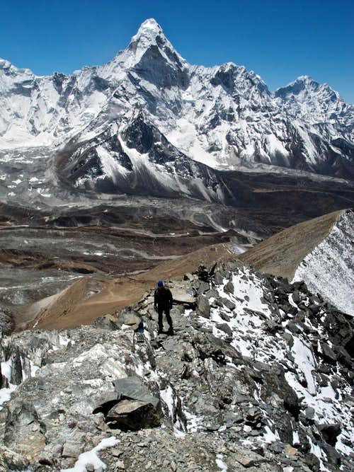 Chhukung Ri: On the Summit Ridge