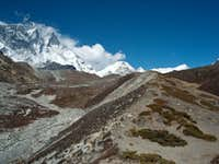 Paroramic view around Chhukung
