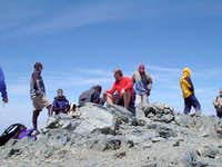 Lots of people on the peak...