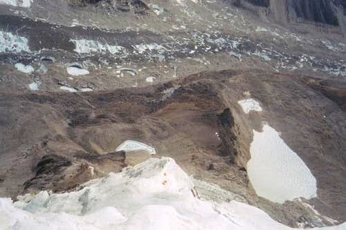 Looking down to Camp 1...