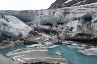 Robson Glacier Ice Caves