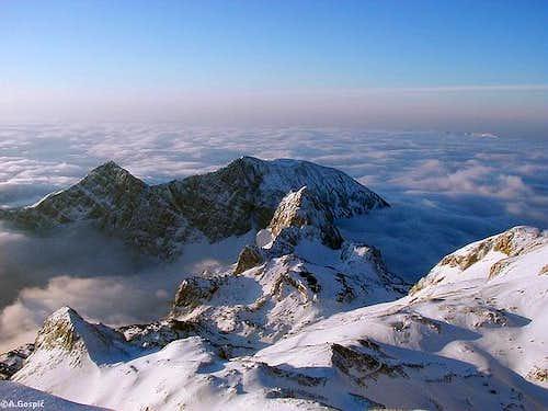 Triumvirate of peaks