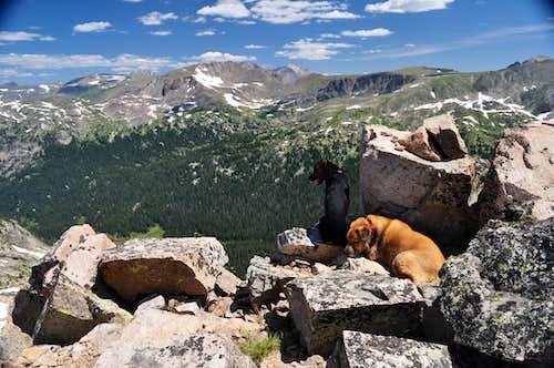 Watanga and Sopris on Watanga Mountain's Summit.