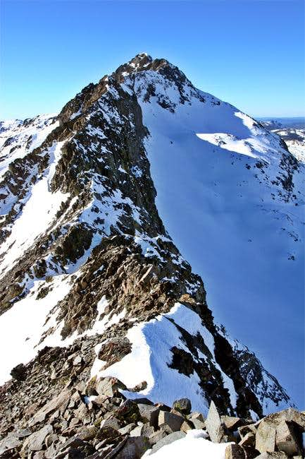 Knife edge of the East Ridge...
