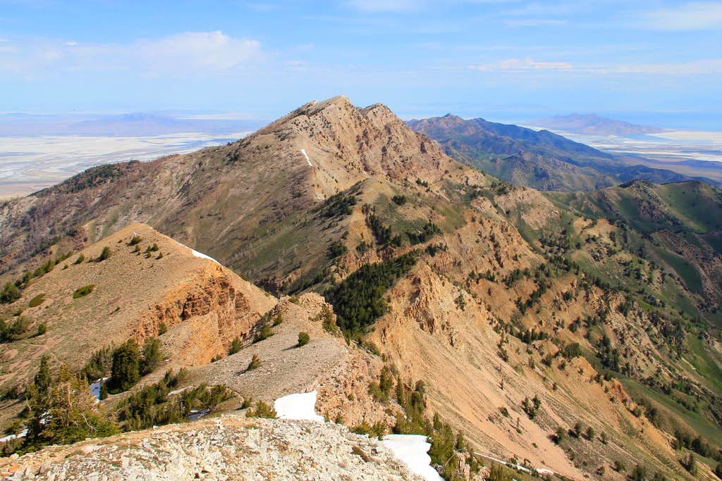 Looking north from the summit of Deseret Peak.