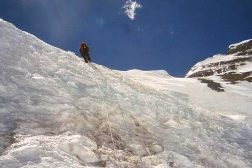 Climbing to the North Col,...