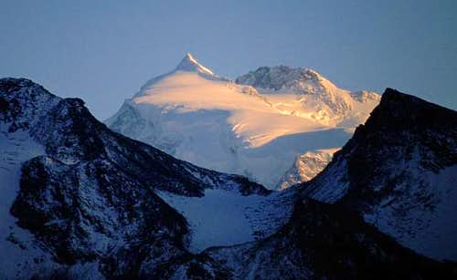 The main Monte Rosa summits...