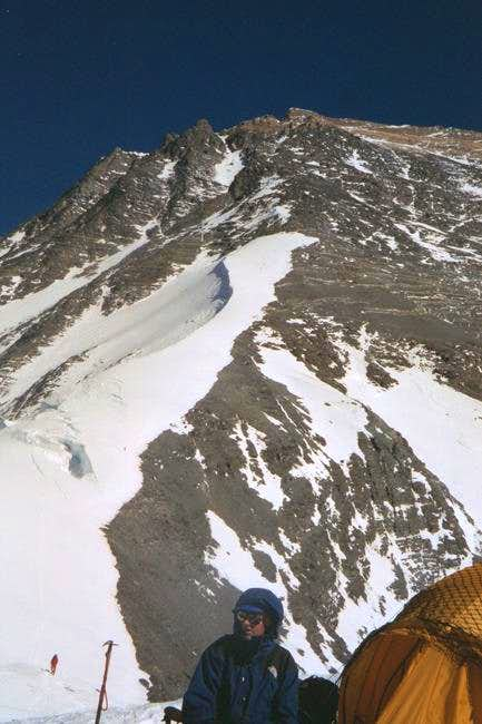 View uphill from North Col,...