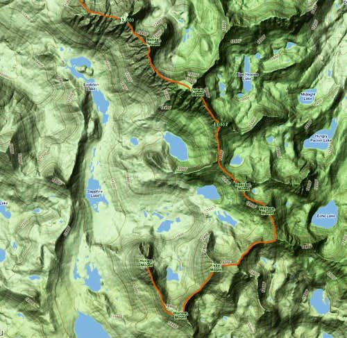 Evolution Traverse route