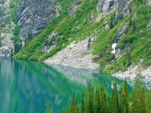 Lush Green Reflection at Colchuck Lake