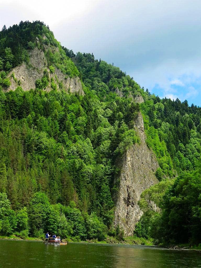 Begining of Dunajec River Gorge