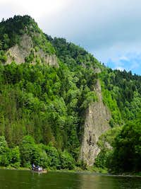 Begining of Dunajec River Gorge