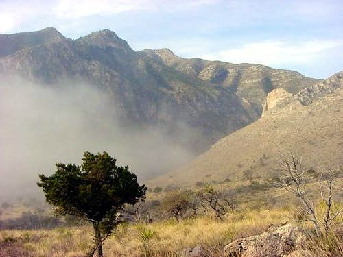 Guadalupe Peak is visible in...