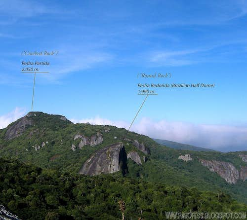 Info view of Pedra Redonda and Pedra Partida