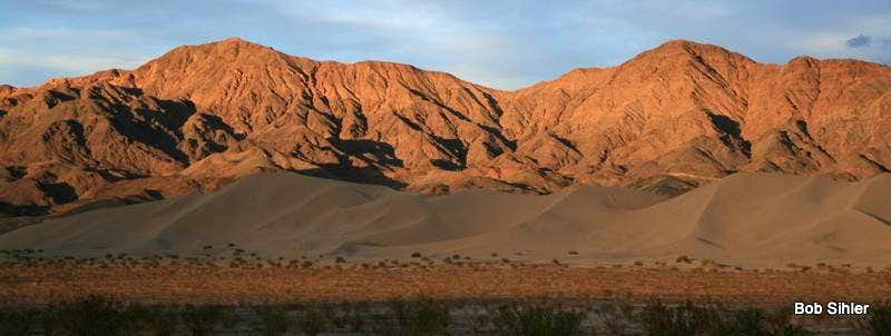 Saddle Peak Hills and Ibex Dunes, Sunset