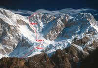 Yalung Face first ascent route