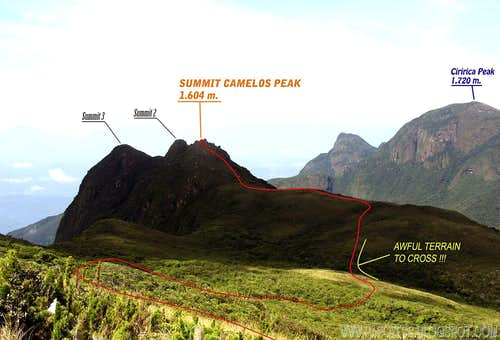 Informational view to its summit.