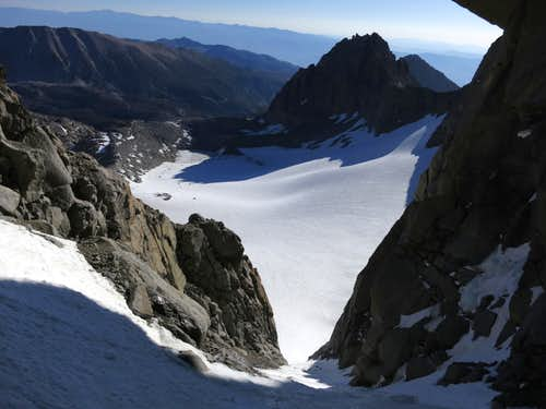 The lower portion of the Clyde Couloir