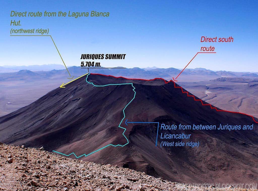 Info about Juriques volcano routes