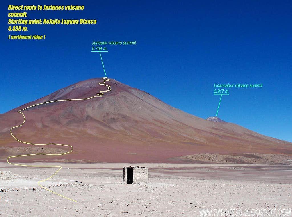 Info about Juriques volcano routes 2