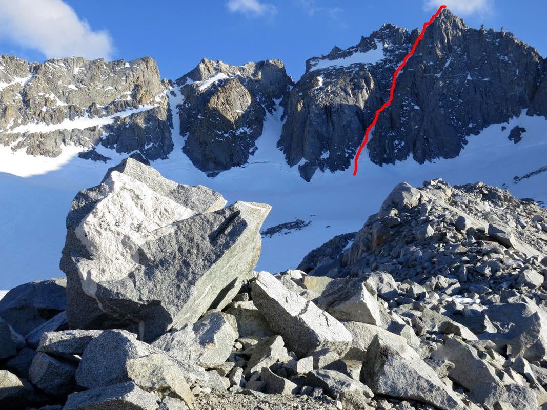 Clyde Couloir Route
