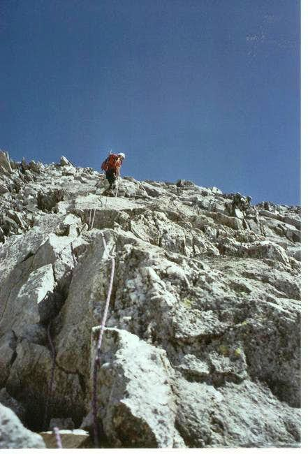 Descending the South face of...