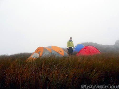 Me, summit of Araçatuba Peak: 1.680m.