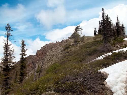 The summit area of Iron Bear