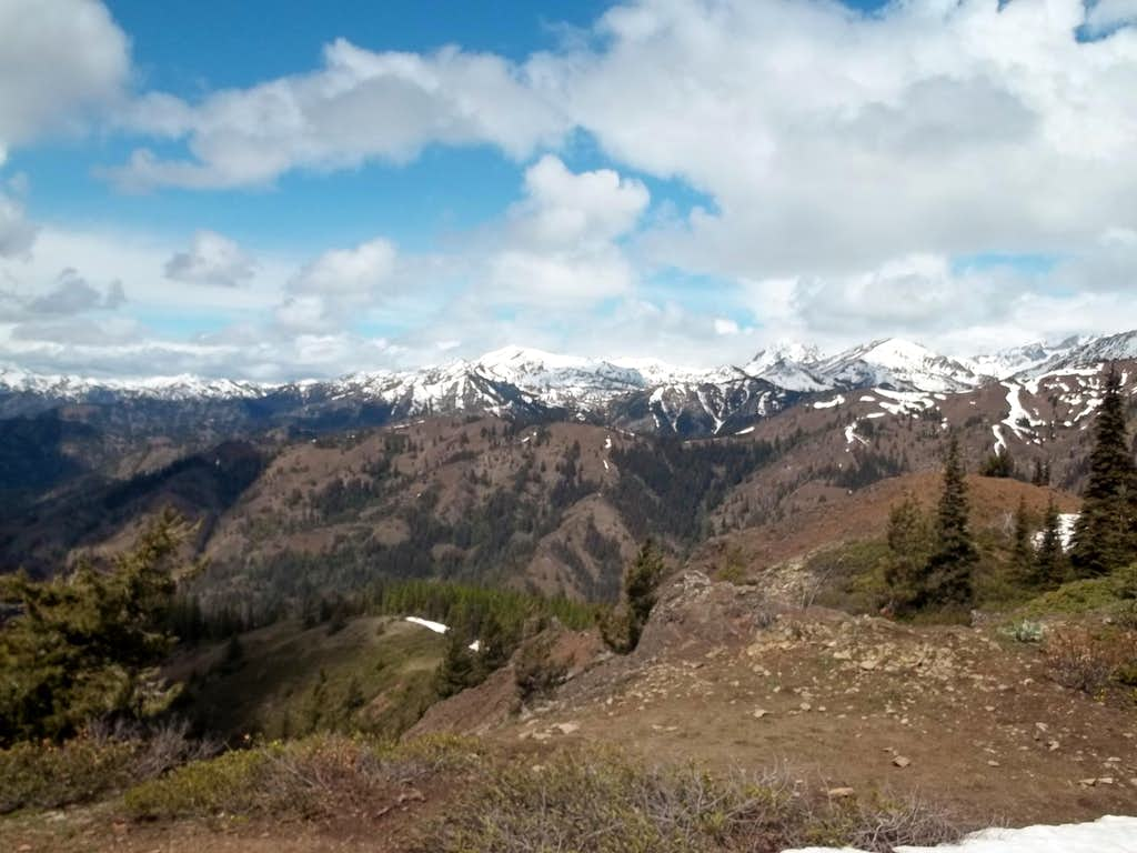 The snowcapped Teanaway