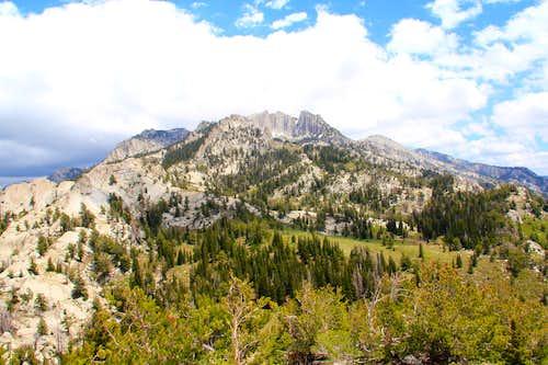 Looking at Lone Peak via Enniss Peak.