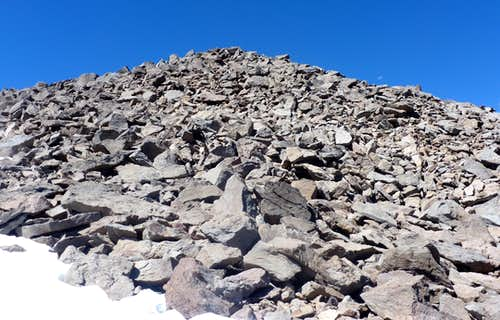 Final rocks up to the summit of Rose Knob Peak