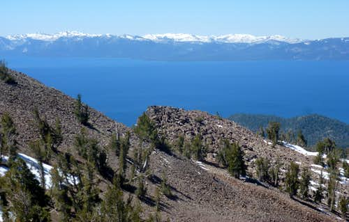 View southwest to Desolation from Rose Knob Peak