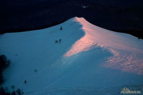 Carynska ridge in evening lights