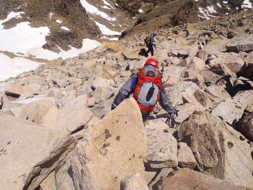 Boulders on descent