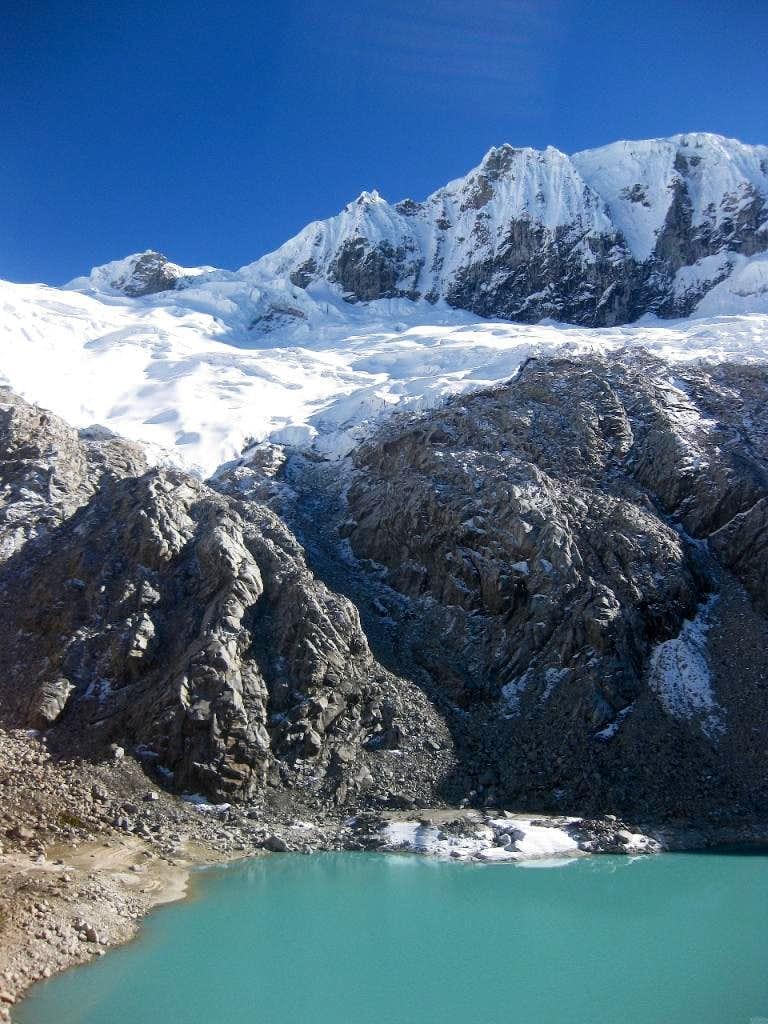 Glacial lake at the base of Pisco