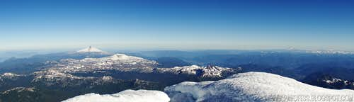 Summit view of Lanin