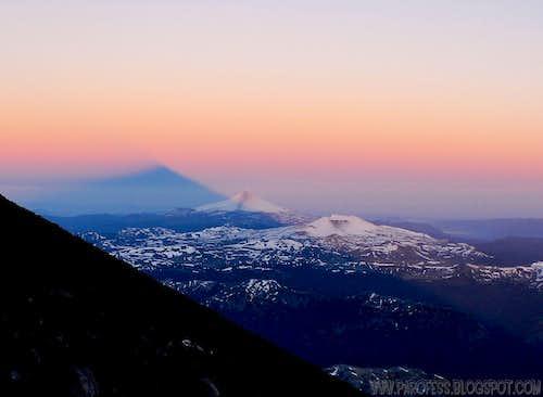 Lanin volcano shadow