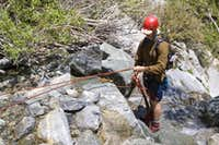 Anchor for second to last rappel