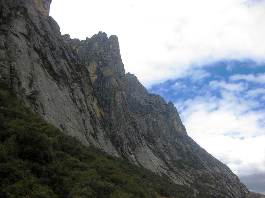 The steep walls of Quebrada Rurec