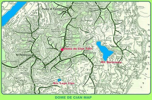 Dôme de Cian map