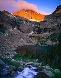 McHenrys Peak at sunrise,...