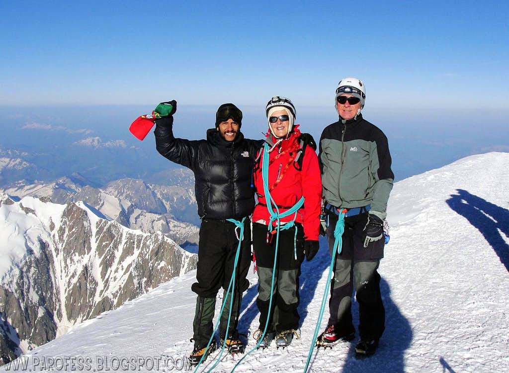Me and new friends, Mont Blanc summit.