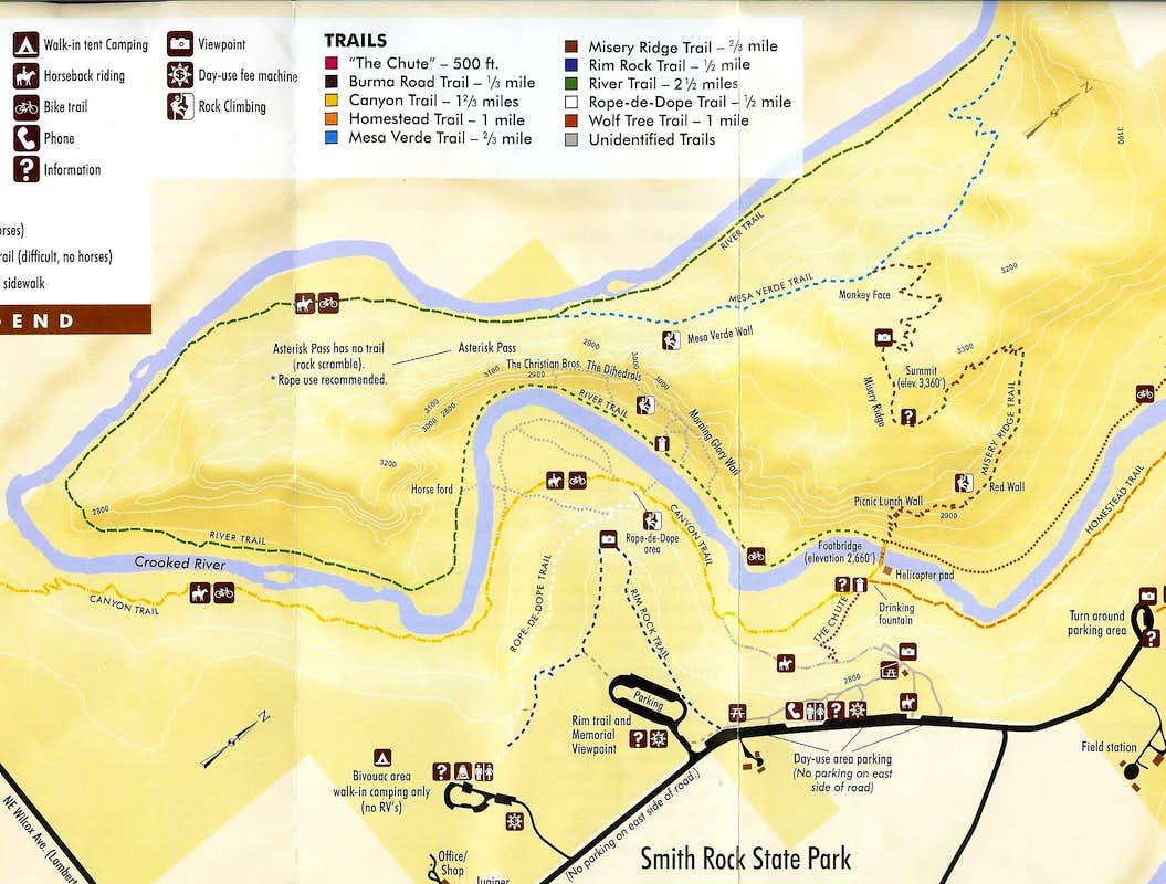 smith rock  high desert gem  trip reports  summitpost - smith rock park map park map
