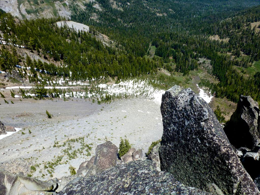 View down to the north from the summit of Twin Peaks