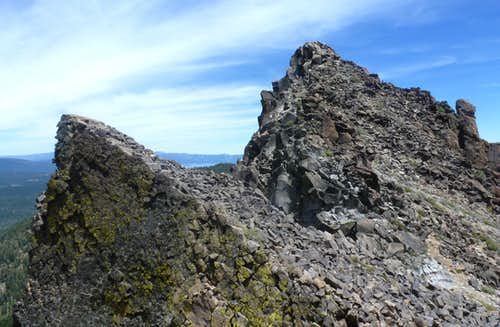 West face of Twin Peaks high summit