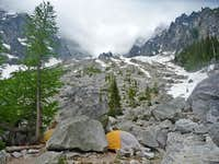 Camping near Colchuck Lake