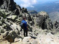 summit ridge on almanzor